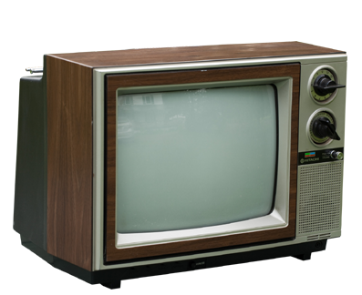 Tv retro ancienne perspective